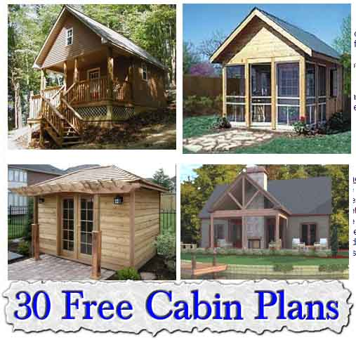 Great 30 Fantastic Free Small Cabin Plans
